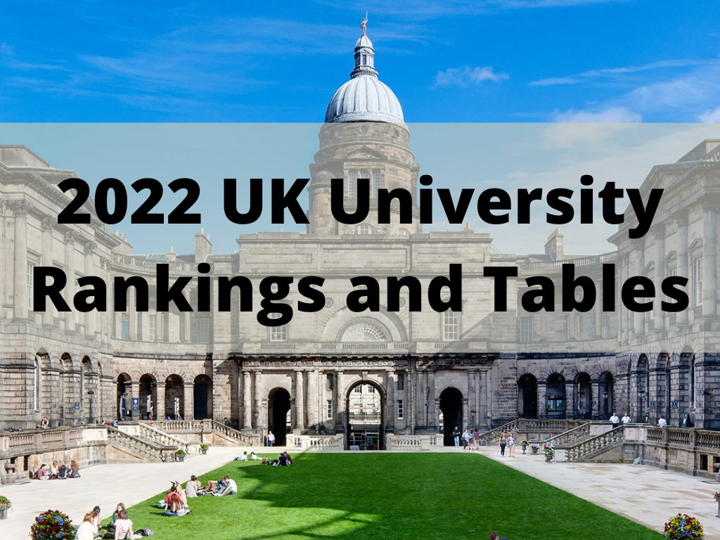 2022 UK University Rankings and Tables - Top Universities In The UK