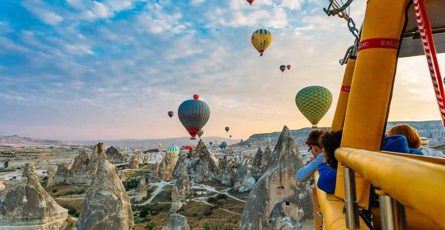 Ride over Cappadocia on a hot air balloon Top-Rated Things to Do in Turkey