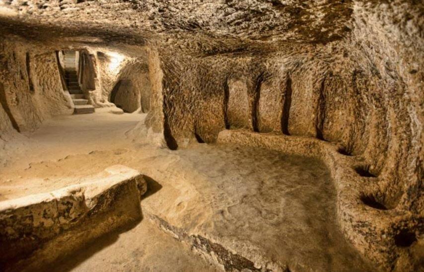 Cappadocia-underground-city Explore the underground city of Derinkuyu