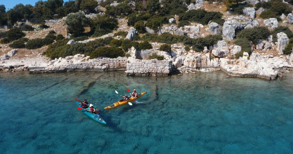 Top-Rated Things to Do in Turkey Kayak over the ruins of Kekova