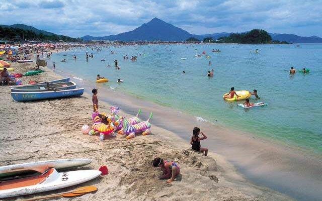 Beaches in Japan Wakasa Wada Beach of Fukui